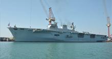 UK Flagship 'HMS Ocean' Docks at ASRY